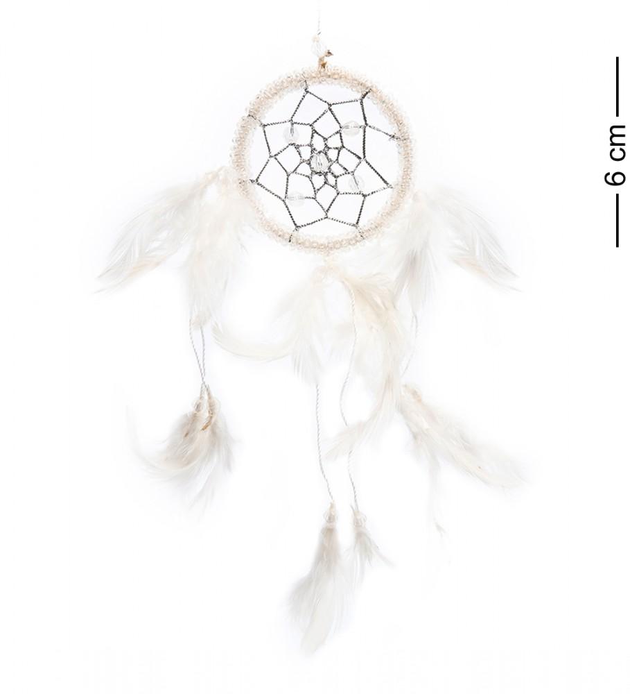 Оберег Ловец снов Серебряная паутина 6 см