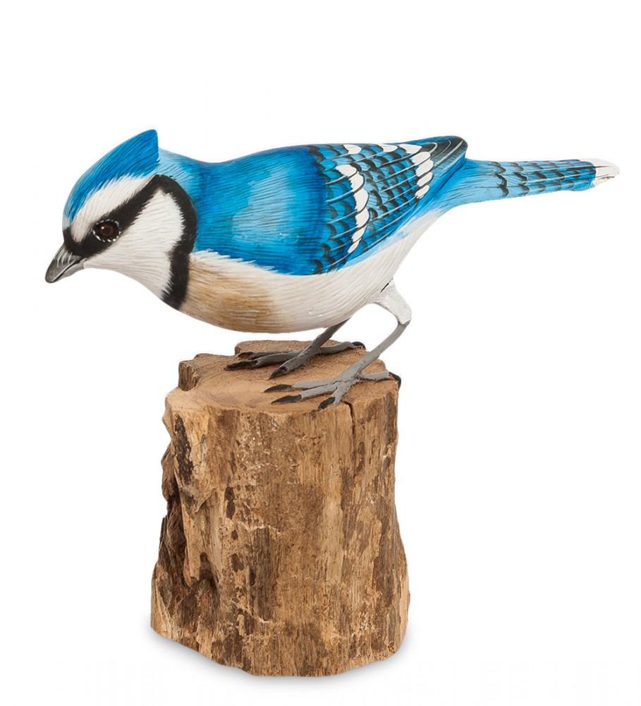 Птица Голубая сойка 13 см