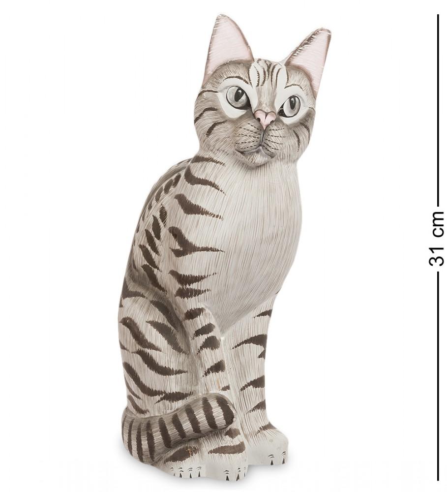 "Фигурка из дерева ""Серый котик"" 31 см"