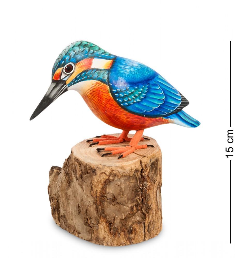 Птица Зимородок 15 см
