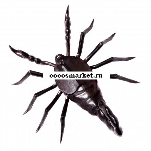 Фигура резная скорпион 60 см