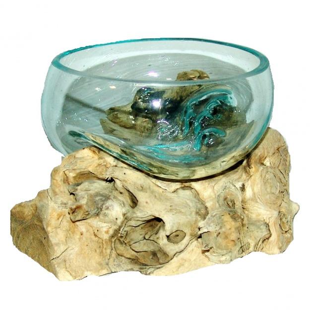 Ваза на корне Прозрачная чаша 10 см