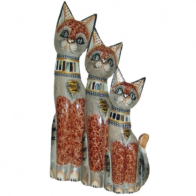 Набор Коты в серебряном ошейнике 30,40,50 см