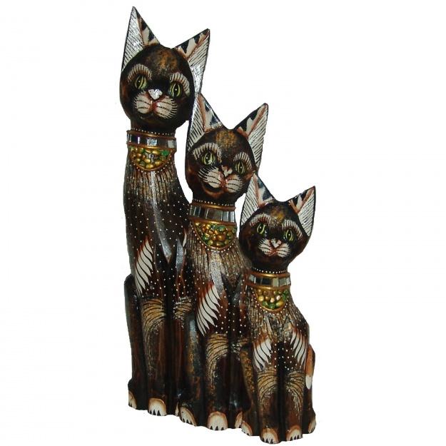 Фигурки Кошки в ожерелье 30,40,50 см