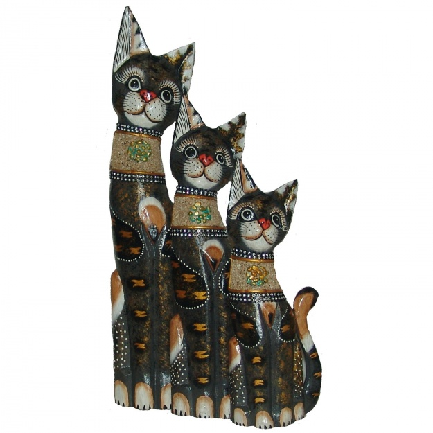 Кошки в красивом ошейнике 30,40,50 см