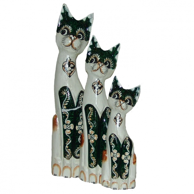 Кошки черно-белые 30,40,50 см