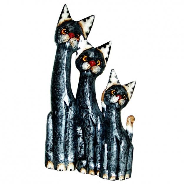 Набор Серебряных котов 30,40,50 см
