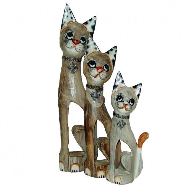 Набор Кошки с блестящим кулоном 30,40,50 см
