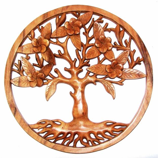 Резное панно Дерево жизни 50 см