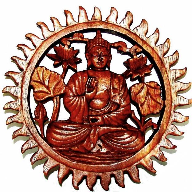 Резное Панно Будда 25 см