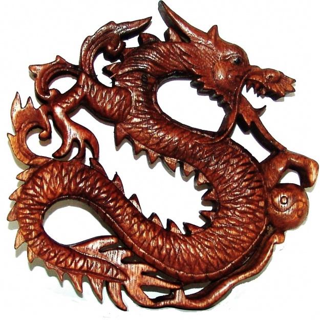 Панно Дракон с жемчужиной 20 см