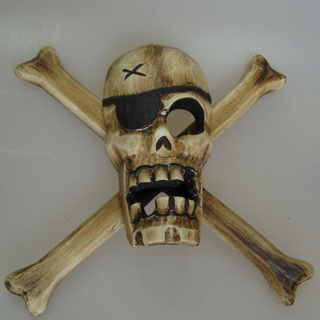Панно Череп с костями 40 см