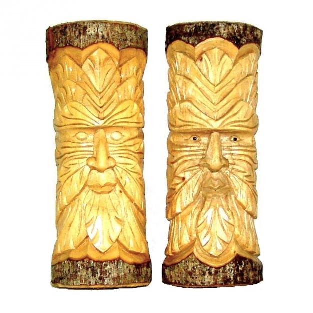 Оригинальная Маска из дерева 30 см.