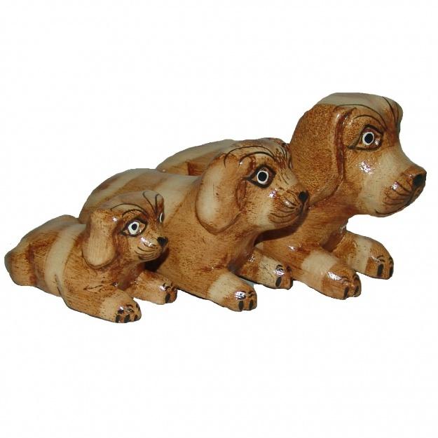 Набор фигурок Собачки 10,14,18 см