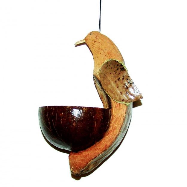 Кормушка из кокоса Птица 25 см