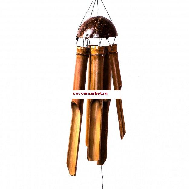 Музыка ветров с бамбуковыми трубочками 40 см