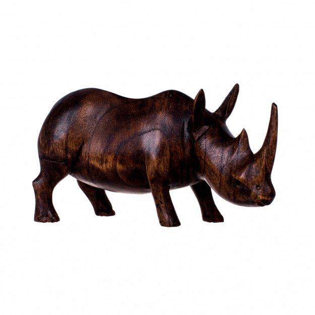 Фигура из дерева Носорог 20 см