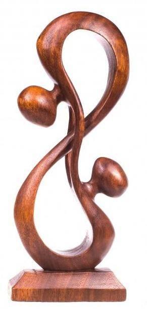 Фигурка из дерева Абстракция Восьмое чувство 15 см.