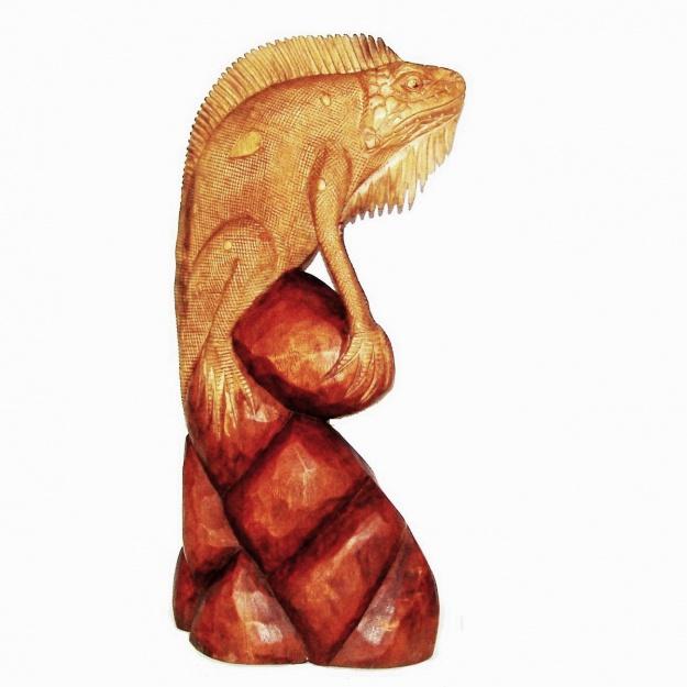 Фигура резная Игуана на дереве 60 см