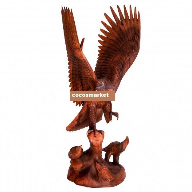 Скульптура Орёл с птенцами 80 см.