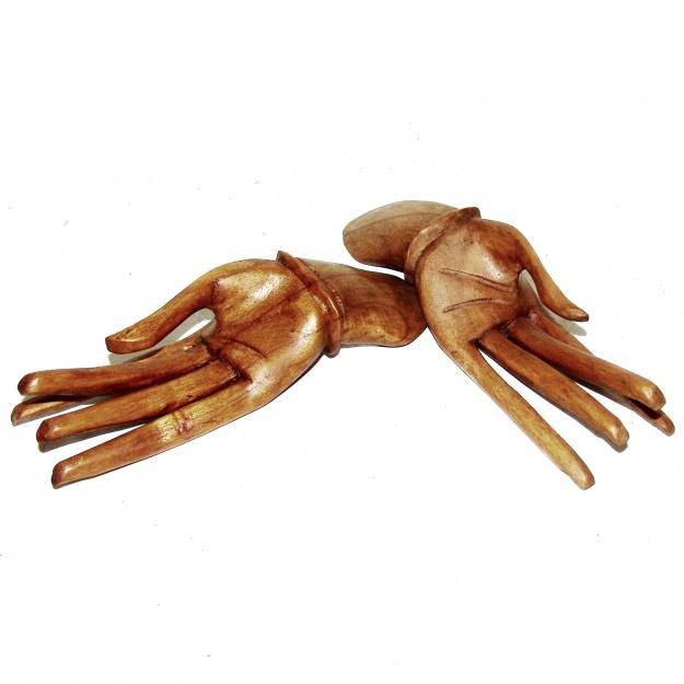 Изделие из дерева Две руки (2 шт) 20 см
