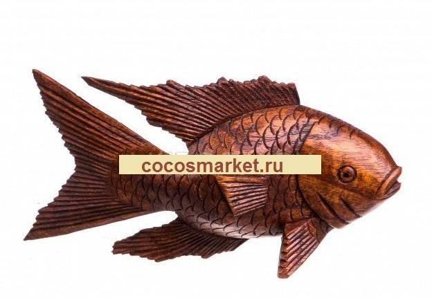 Статуэтка из суарового дерева Рыба 25 см.