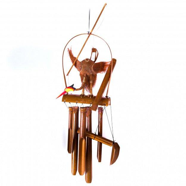 Бамбуковая музыка ветра Аист 30см