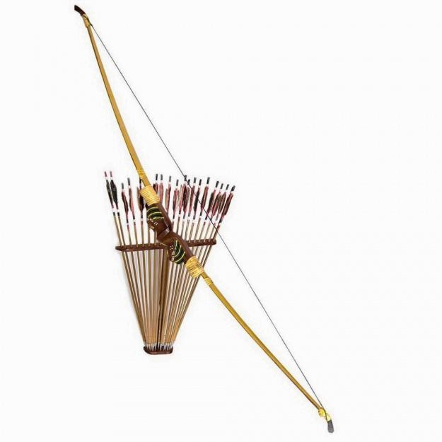 Лук со стрелами на подставке 150 см