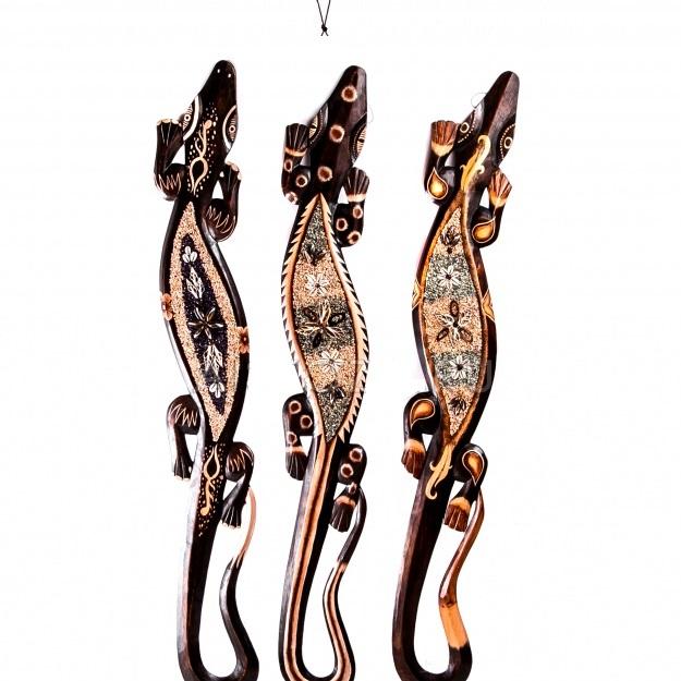Панно декоративное с ракушками Геккон 150 см.
