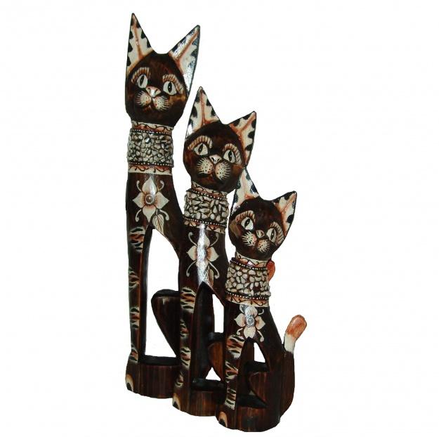 Интерьерные Кошки в ошейнике из камней 60,80,100 см
