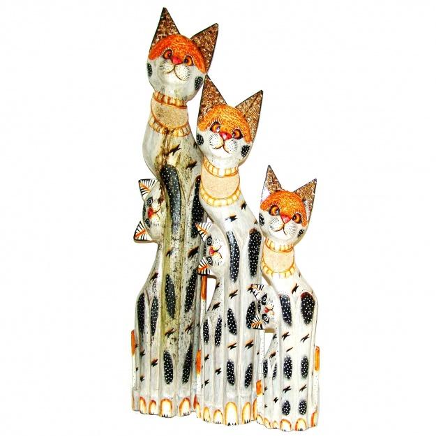 Набор фигурок Кошки и котята 60,80,100 см