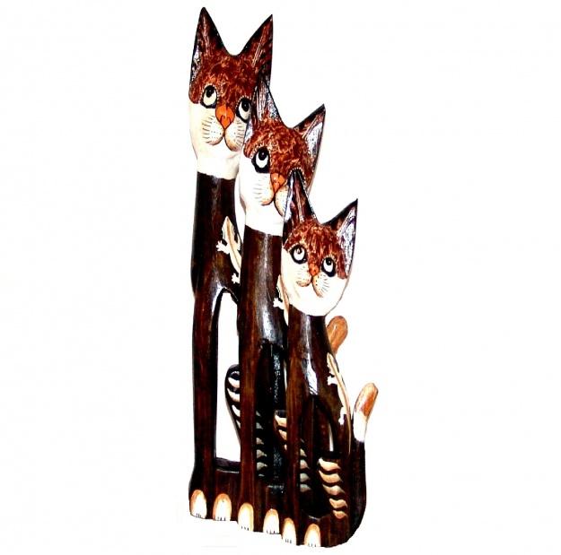 Набор Статуэток коты с тотемом ящерица 60,80,100 см