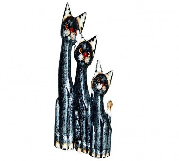 Набор фигурок Серебристые коты 60,80,100 см