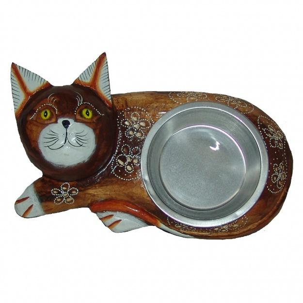Миска для животного с фигуркой кошки 30 см