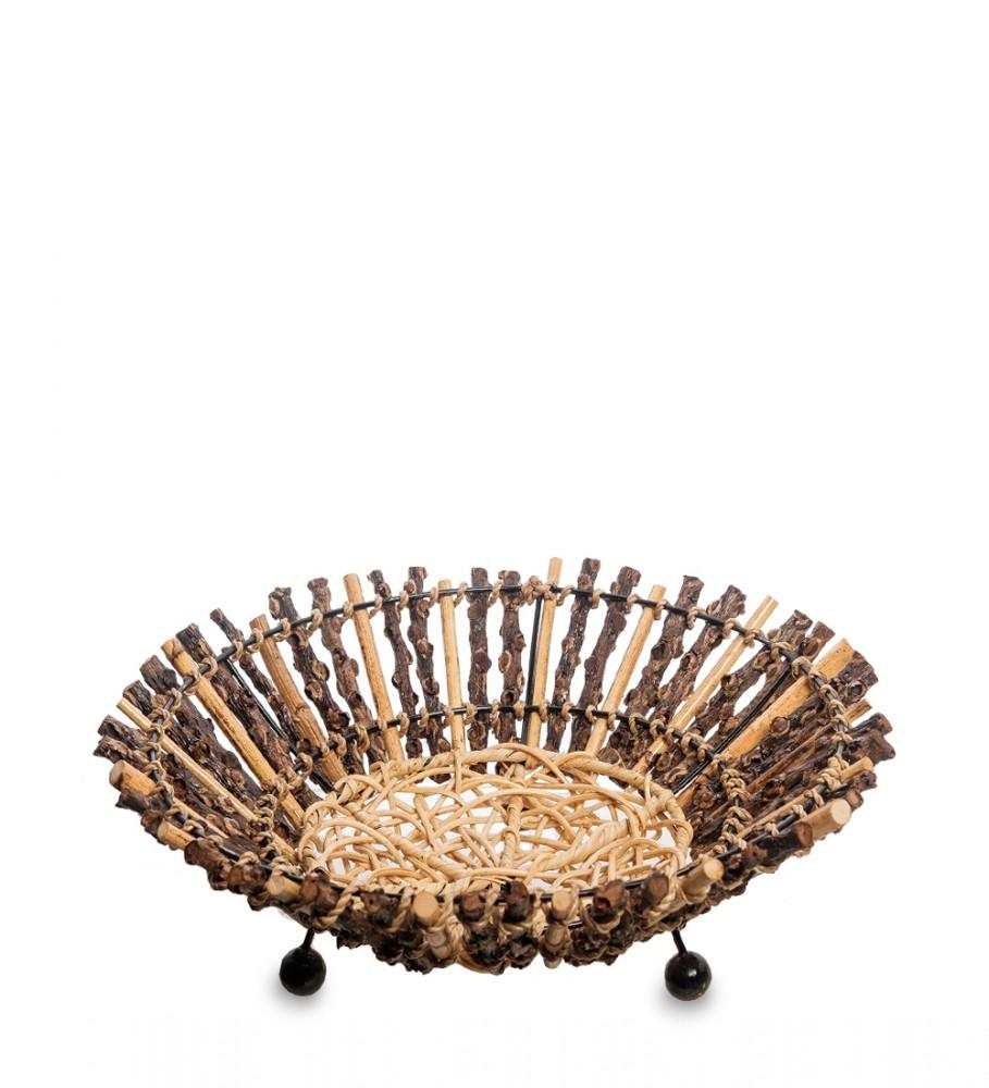 Плетеная тарелка для сладостей 30 см
