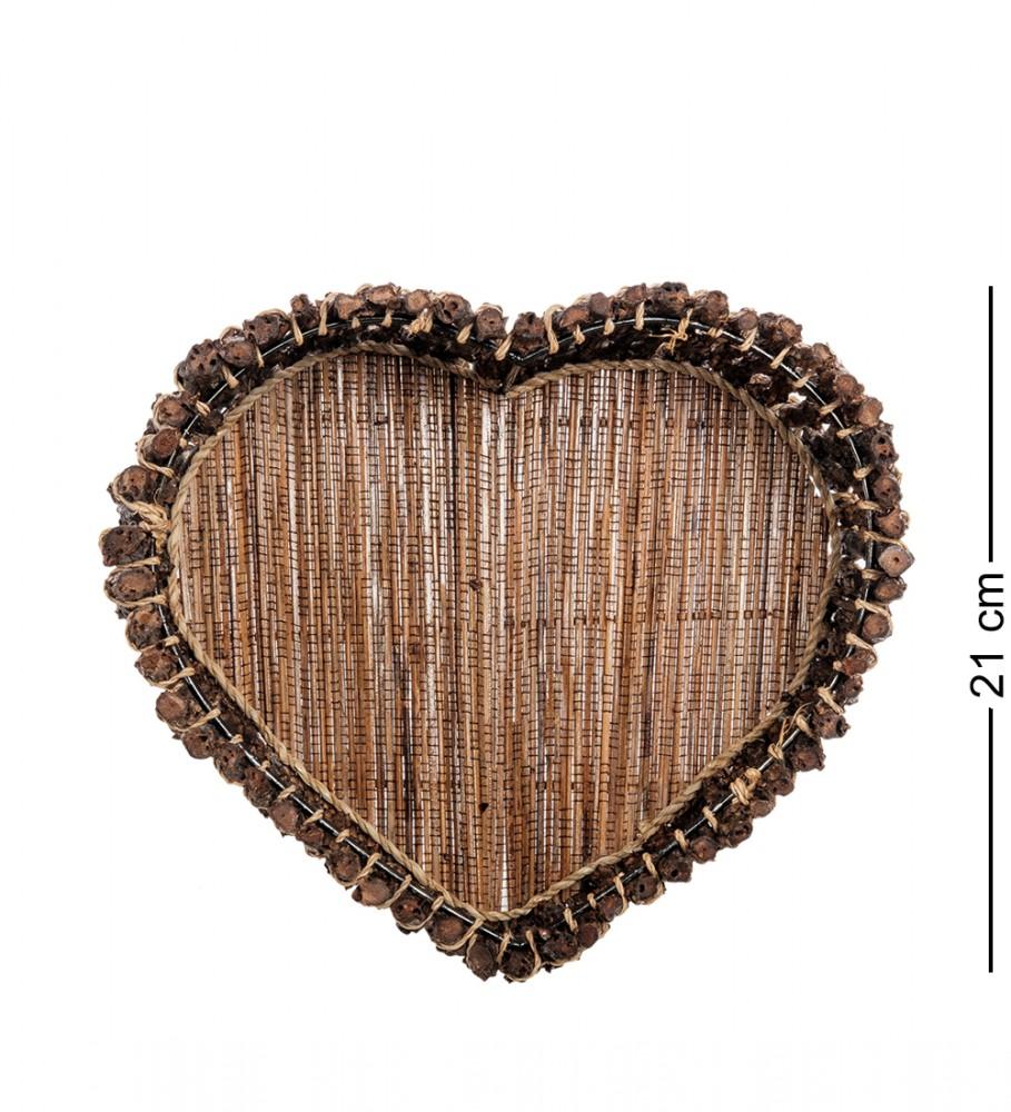 Плетеная посуда в виде сердца 21 см