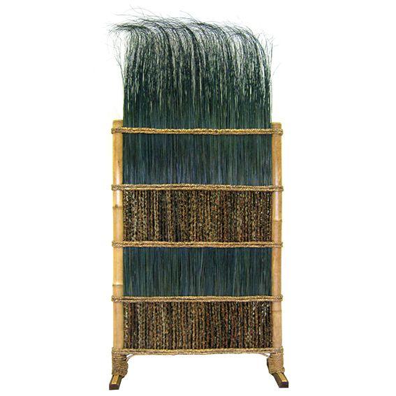 """Перегородка из бамбука """"Бирюзовый тропический микс"""" 1х2,1м"""