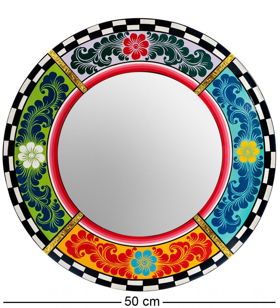 """Зеркало """"Цветочный мотив"""" 50 см"""