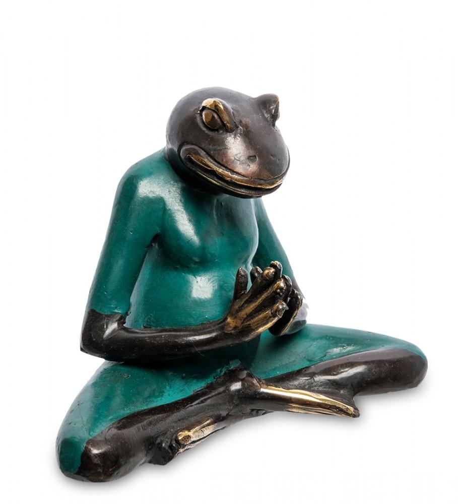 Бронзовая статуэтка Лягушка Йог 11,5 см