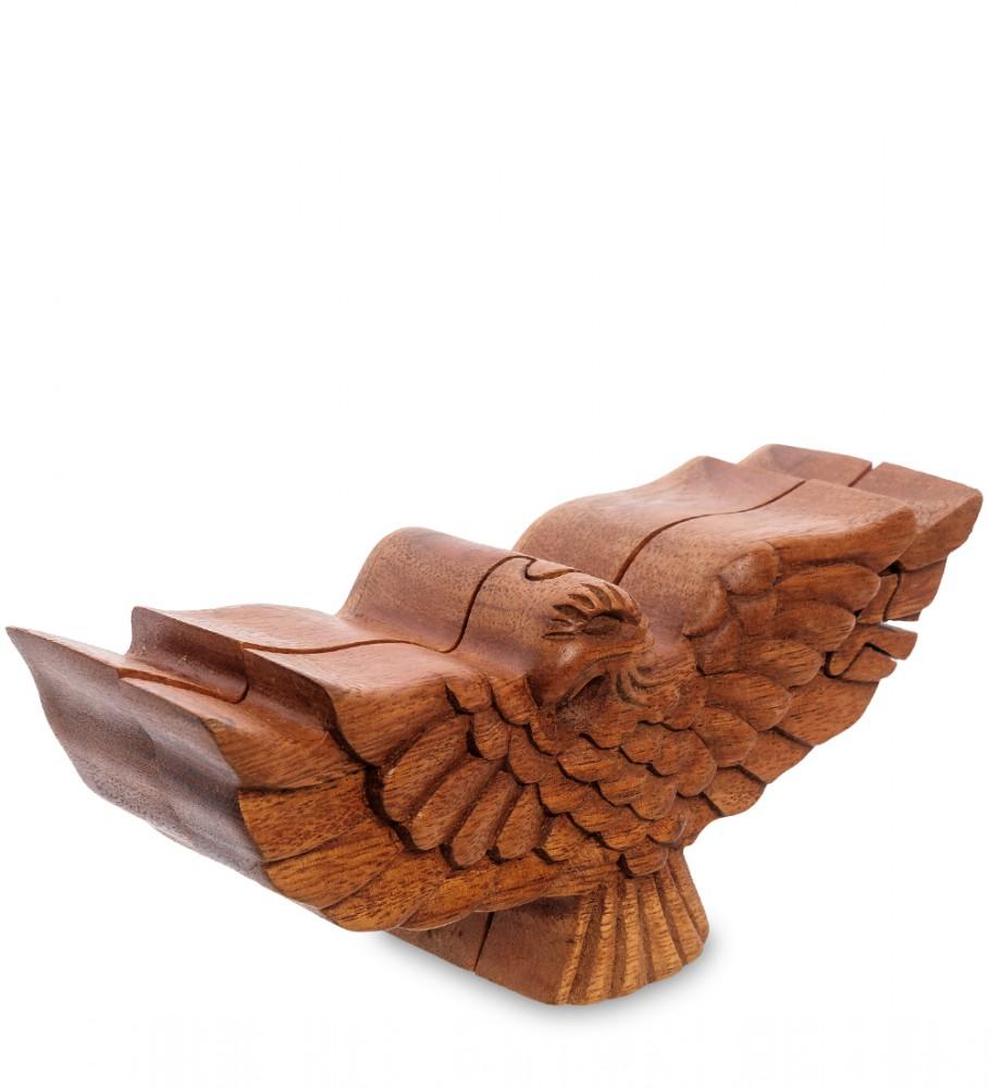 Шкатулка головоломка Орел 16,5 см