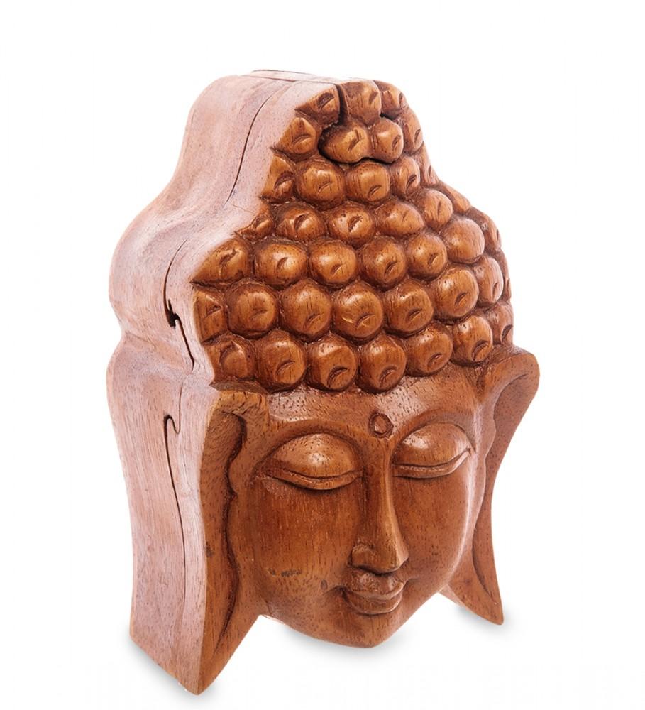 Шкатулка головоломка Будда 14 см