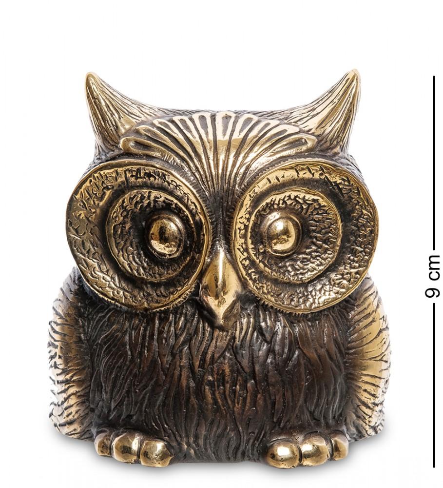Фигурка из бронзы Лупоглазая сова 9 см