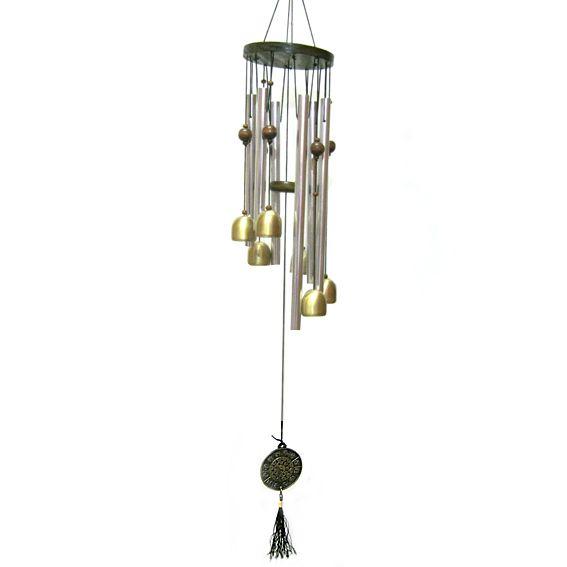Музыка ветра из 6 колокольчиков и трубок 72 см