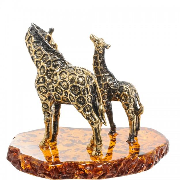 Статуэтка жираф с детенышем