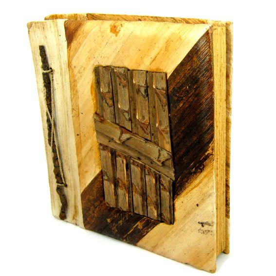 Фотоальбомс бамбуковым дизайном19х20 см