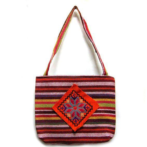 Этническая текстильная сумка 30х25