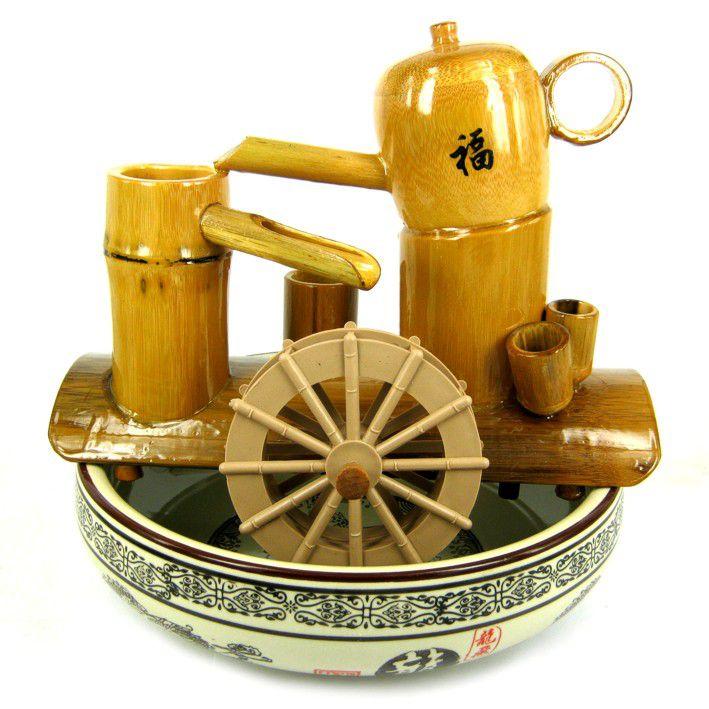 Фонтан Чаепитие (бамбук, керамика) 22 см