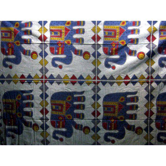 Индийское полотно из хлопка  Слоны 2,1х1,5м