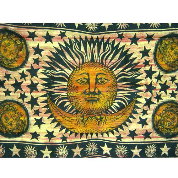 Индийское покрывало Солнце и Луна 2,3х1,4м