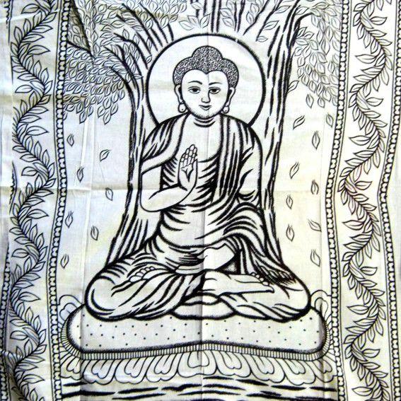 Хлопковое покрывало Будда 2,3х1,4м